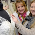 Sarah Smith with her apprentice at the Bridal Gallery in Coventry - Image courtesy of the Coventry Telegraph